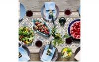 西班牙復古花磚桌飾墊 <br>中長桌飾墊 l 極地之美